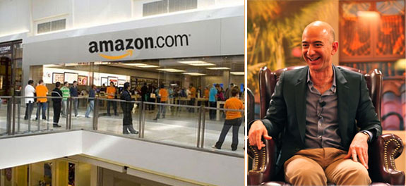 An Amazon store and Jeff Bezos at the ENCORE awards 9 image credit:.Steve Jurvetson via Wiki Commons