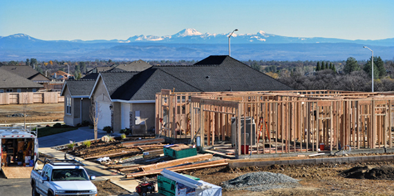 New home construction in Redding, California (Credit: Redding Homes Blog)