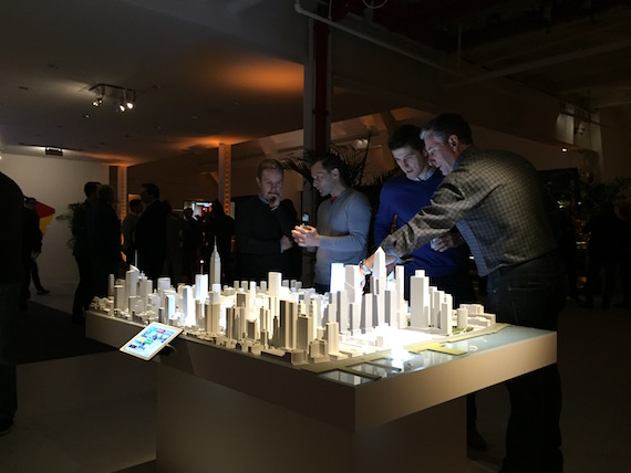 Attendees at Brookfield Property Partners' ICSC party in Manhattan (credit: Rich Bockmann)