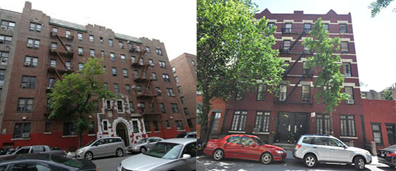 15 Crooke Avenue in Brooklyn and 24 Jane Street in the West Village.