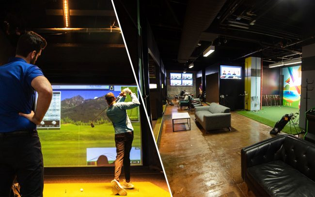 The Five Iron Golf location in New York's Financial District