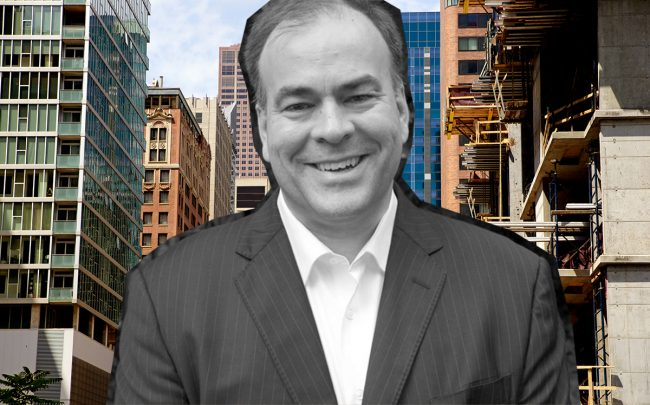 Cook County Assessor Fritz Kaegi and downtown Chicago (Credit: iStock)