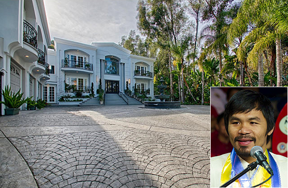 Manny Pacquiao and the Beverly Hills pad