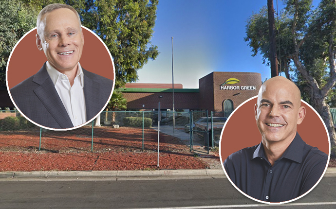 Rexford co-CEOs Howard Schwimmer and Michael Frankel with property at 19100 Susana Road