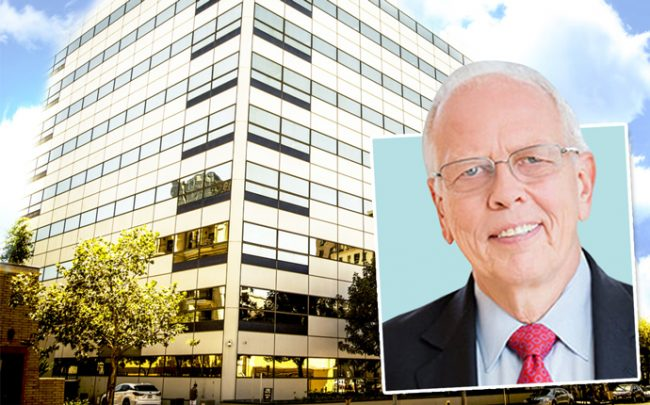 LA Care CEO John Baackes and the building at 1200 West 37 Street