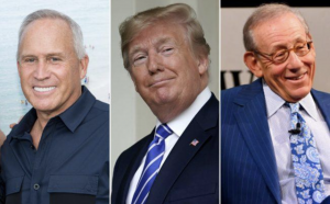 Joe Farrell, Donald Trump, and Stephen Ross (Credit: Getty Images)