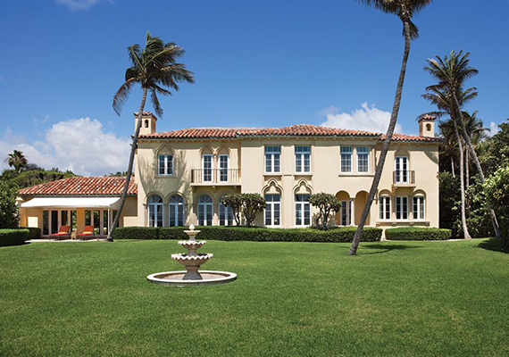 The John Kluge estate in Palm Beach