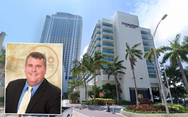 Dave Folsom, President and CEO of Sotherly Hotels, and DoubleTree Resort by Hilton Hollywood Beach at 4000 South Ocean Drive (Credit: Google Maps)