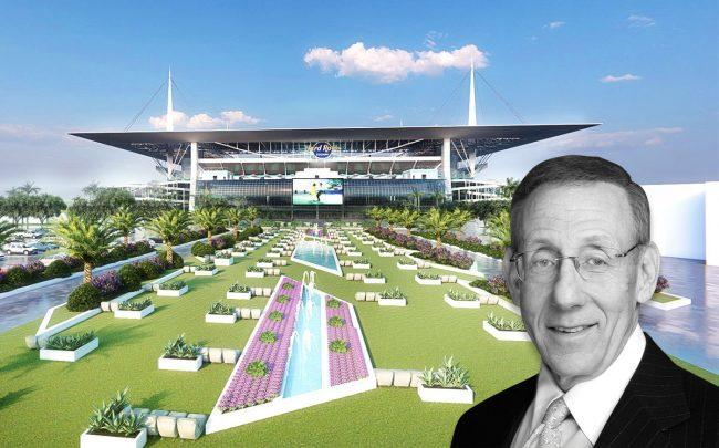 Rendering of the drive-in theater and Stephen Ross (Credit: Azeez Bakare Studios)