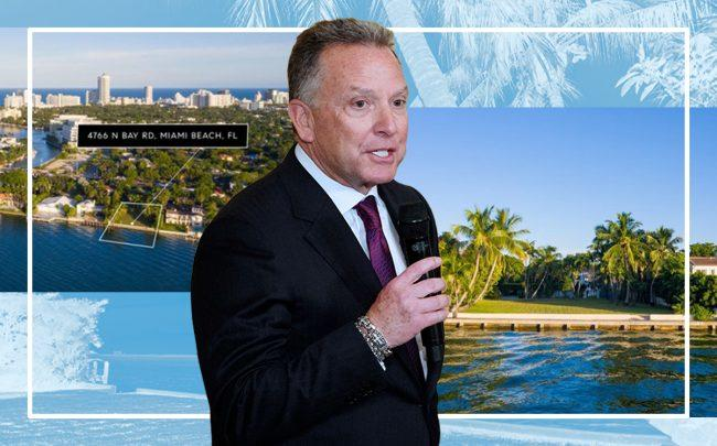 Steve Witkoff and 4766 North Bay Road (Getty, Douglas Elliman)