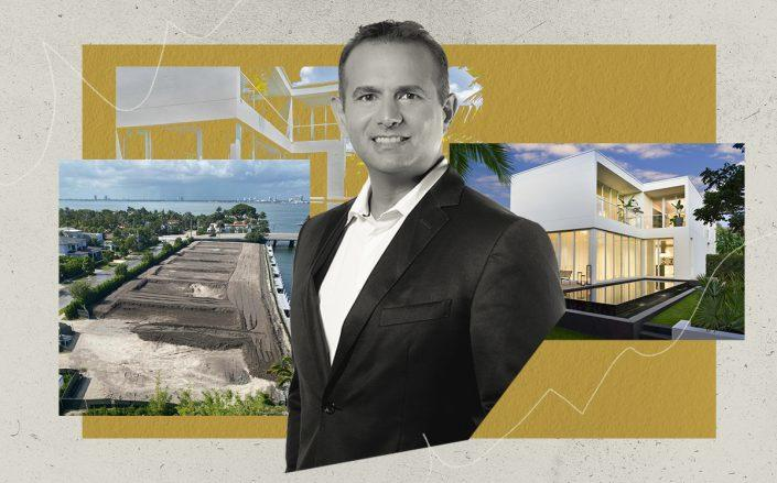 Ophir Sternberg with the Ritz-Carlton Residences, Miami Beach and the land for the villas (Lionheart Capital)