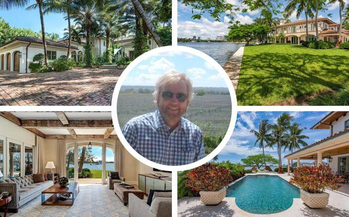 Pharma exec Glenn Rice and his new Fort Lauderdale mansion. (LinkedIn via Rice, Compass)