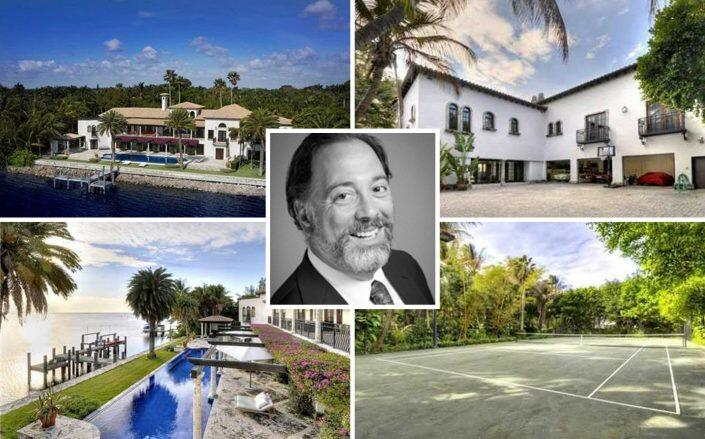 Private equity mogul Nathan Leight and the Coconut Grove property (Sotheby's, Terrapin Partners)