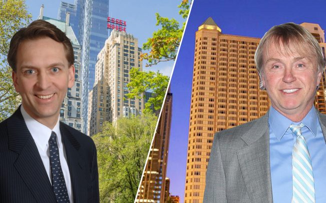 From left: Brookfield CEO Bruce Flatt,JW Marriott Essex House on Central Park South, Fairmont Chicago, and Fortress ChairmanWesley Edens (Credit: Getty Images)