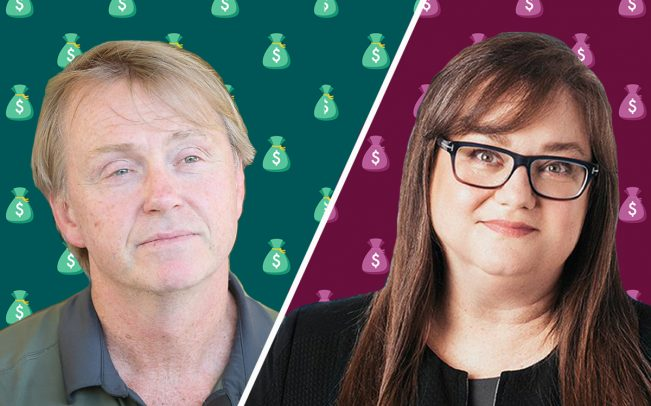 Fortress co-CEO Wes Edens and CoreVest CEO Beth O'Brien (Credit: Getty Images, iStock)