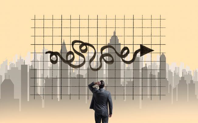 There are warning signs that the U.S. economy is closer to a slowdown. What does that mean for real estate? (Credit: iStock)