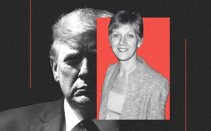 Donald Trump and Rosemary Vrablic (Getty/Illustration by Kevin Rebong for The Real Deal)