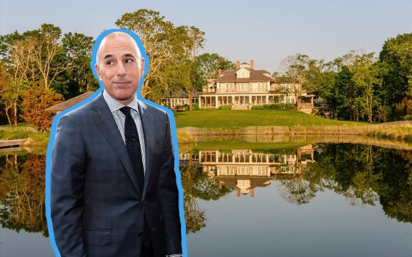 Matt Lauer and his property in North Haven (Getty; Corcoran)