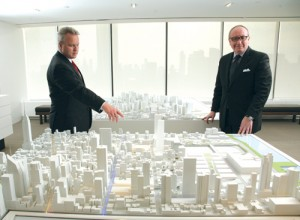Jerry Larkin, who heads up leasing for Brookfield Office Properties in New York, and Bruce Mosler of Cushman & Wakefield.