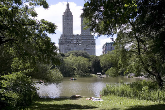 View of the San Remo from Central Park