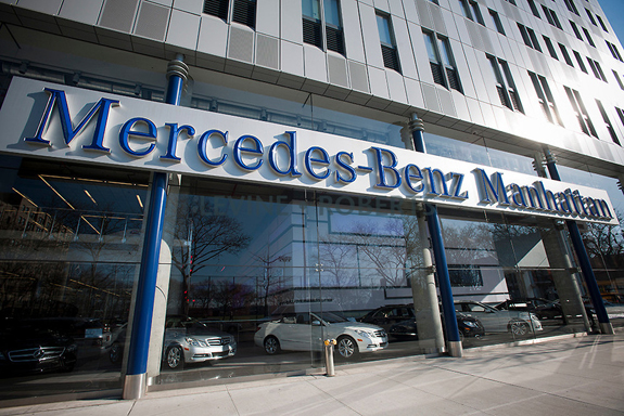 Far west side commercial real estate nyc car dealerships for Mercedes benz dealers in los angeles area