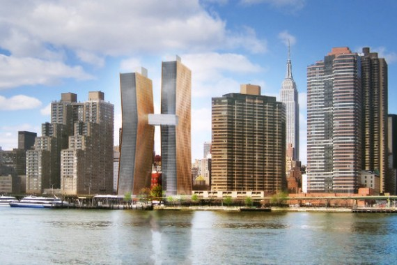 A rendering of JDS' East Side project (courtesy SHoP Architects)