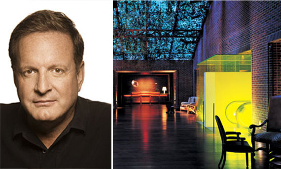 Ron Burkle and an interior shot of the Hudson Hotel
