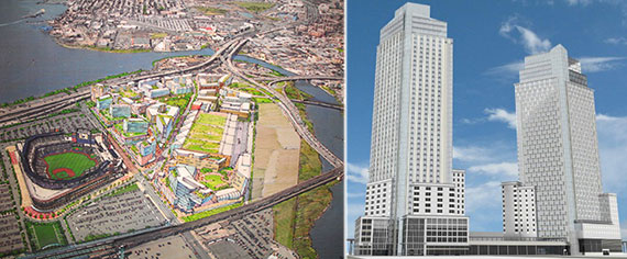 Renderings of Willets Point and 5Pointz