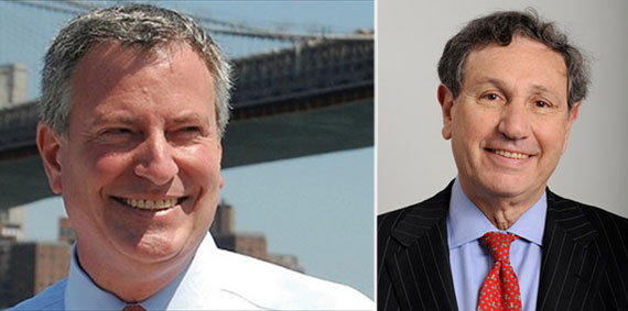 From left: Mayor-elect Bill de Blasio and