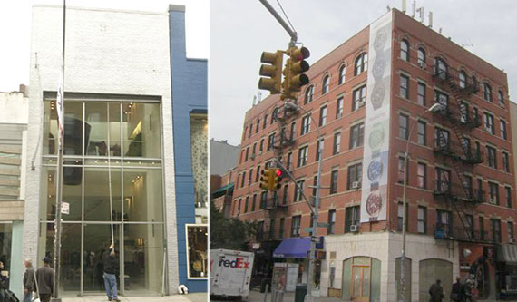 From left: 452 West Broadway and 150 Prince Street