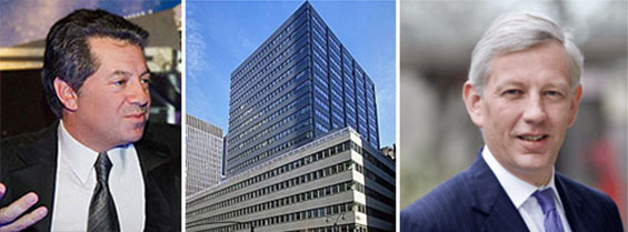 From left: SL Green CEO Marc Holliday, 711 Third Avenue and McKinsey CEO Dominic Barton