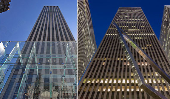 The GM Building at 767 Fifth Avenue and the McGraw-Hill Building at 1221 Avenue of the Americas