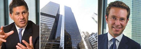 From left: American Realty Advisors CEO Stanley Iezman, 499 Park Avenue and CBRE's Paul Amrich