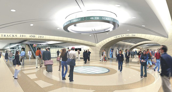 Rendering of the East Side Access Terminal at Grand Central
