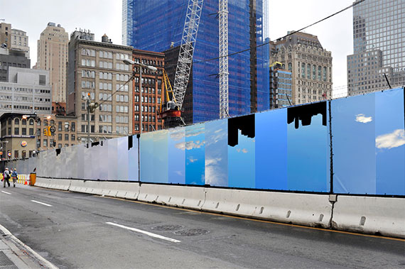 The fence at the World Trade Center site