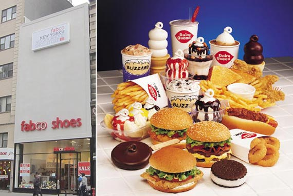 From left: 54 West 14th Street and Dairy Queen goodies