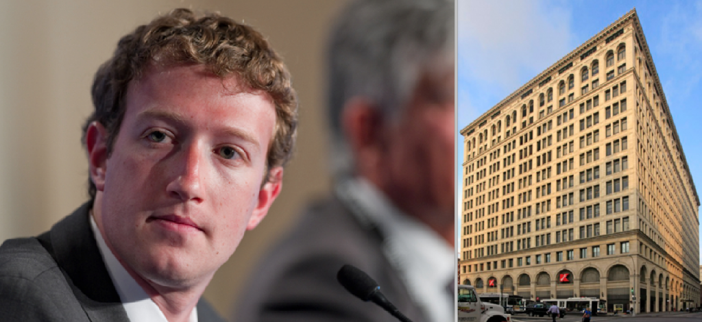 From left: CEO of Facebook Mark Zuckerberg and 770 Broadway