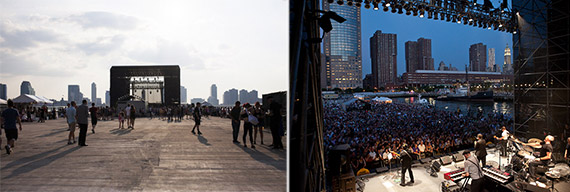 Pier 26 has hosted some of New York City's concerts