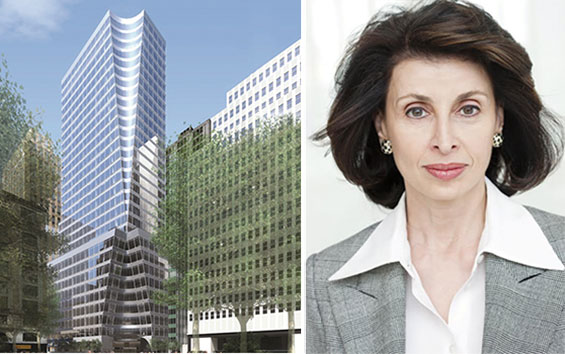 A rendering of 7 Bryant Park and Mary Ann Tighe