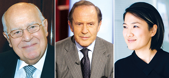 The GM Building's owners: Moise Safra, Mort Zuckerman and Zhang Xin