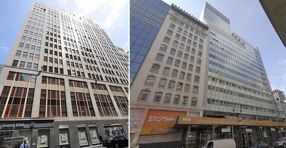 From left: 1400 Broadway and 112 West 34th Street