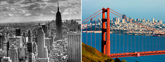 How much money does it take to buy in New York vs. San Francisco?