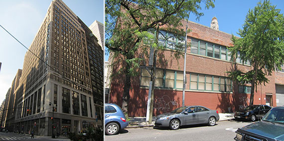 From left: 1375 Broadway in Manhattan and 540 Atlantic Avenue in Brooklyn