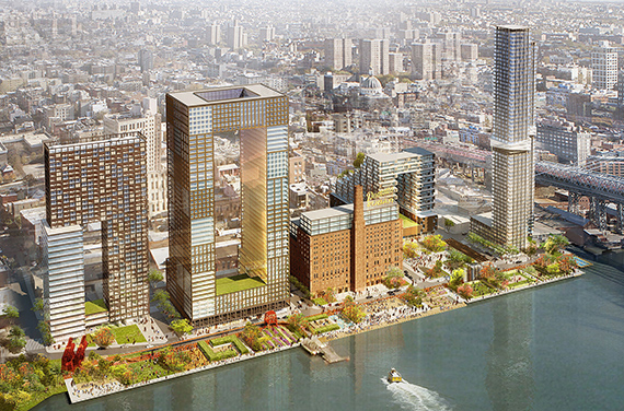 Development on the site of the Domino Sugar Factory