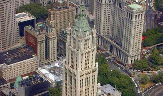 The Woolworth Tower at  233 Broadway