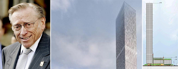 From left: Larry Silverstein and 520 West 41st Street