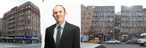 From left: 1917 Seventh Avenue, Adam Mermelstein and 120 West 116th Street