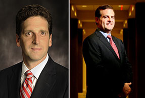 From left: Benjamin Lawsky and Ocwen CEO Ronald Faris