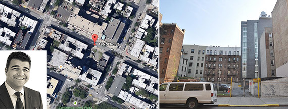 From left: Ilan Bracha, 196 South 3rd Street and location on map (Google Earth)