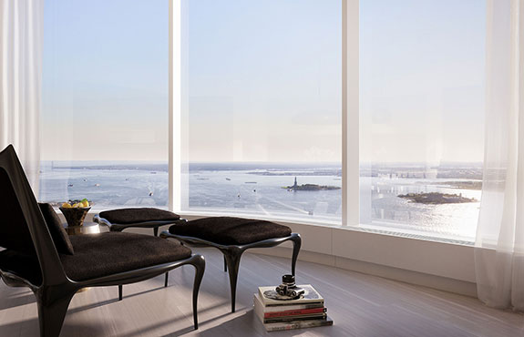 Buyers lined up early for a room with a view at Time Equities' 50 West.